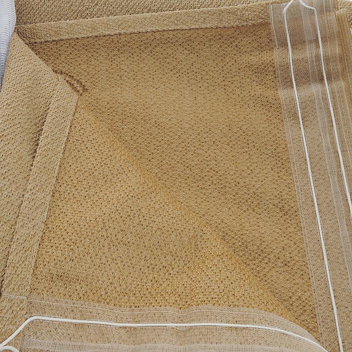 """Комплект штор """"Haft"""", на ленте, цвет: белый, песочный, высота 250 см ( 530930 )"""