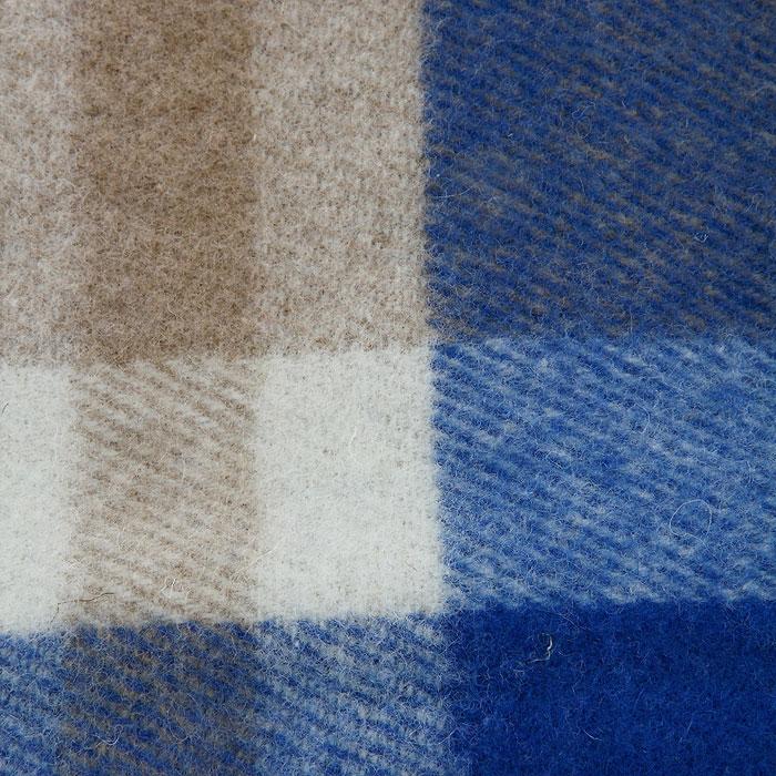 "Плед ""Страдивари"", цвет: синий, белый, бежевый, 170 х 200 см. 1-203-170_04"