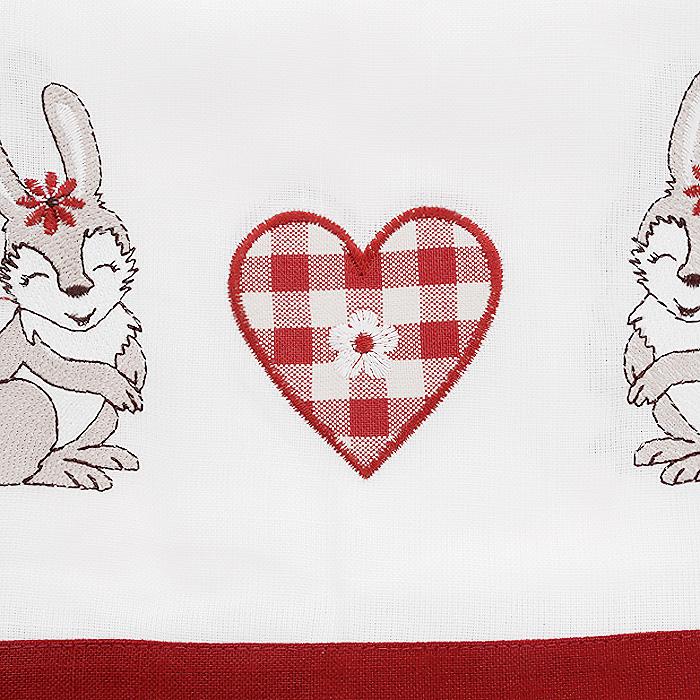 """Скатерть """"Schaefer"""", квадратная, цвет: белый, красный, 85 x 85 см. 07241-100"""