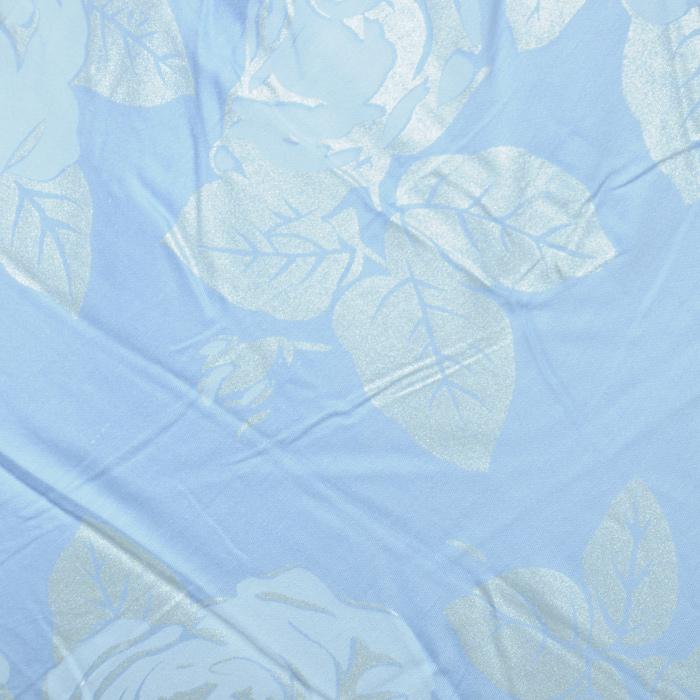 "Подушка ""Rosalia"", наполнитель: экофайбер, цвет: голубой, 72 х 50 см"