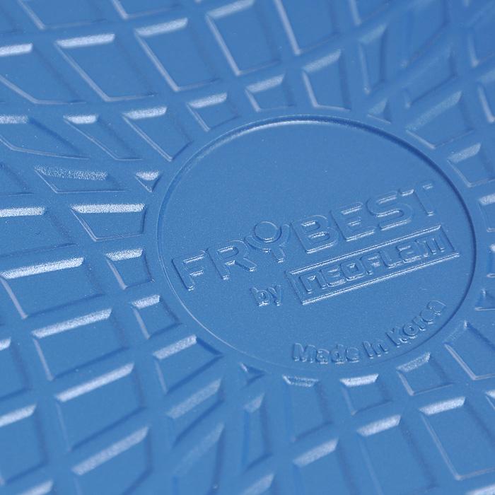 """Сковорода-гриль Frybest """"Azure"""", цвет: голубой, серый, 28 см х 28 см"""