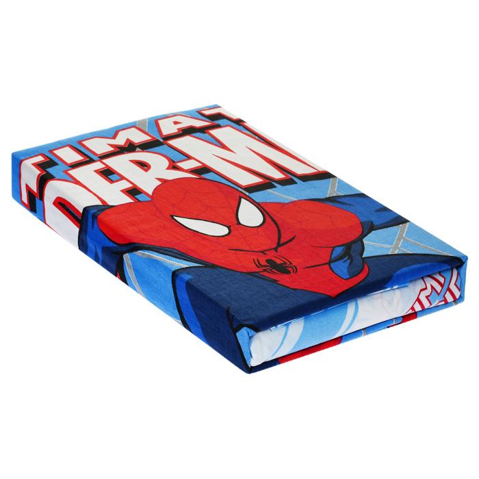 """Постельное белье """"Человек-паук"""" (1,5 спальный КПБ, ранфорс, наволочка 50х70) ( 176712 )"""