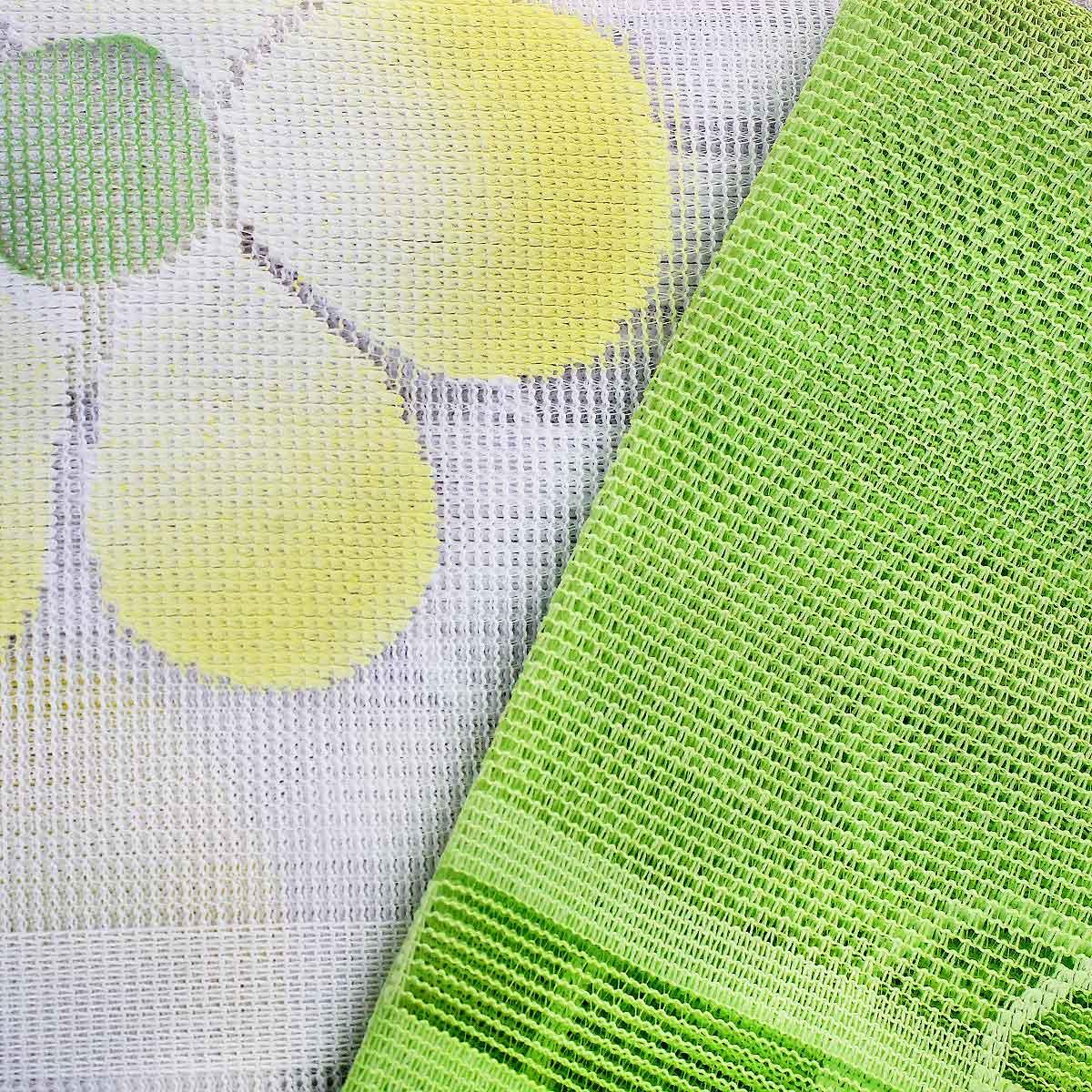 """Комплект штор """"Haft"""", на ленте, цвет: белый, салатовый, высота 250 см. 451716 ( 451716 )"""
