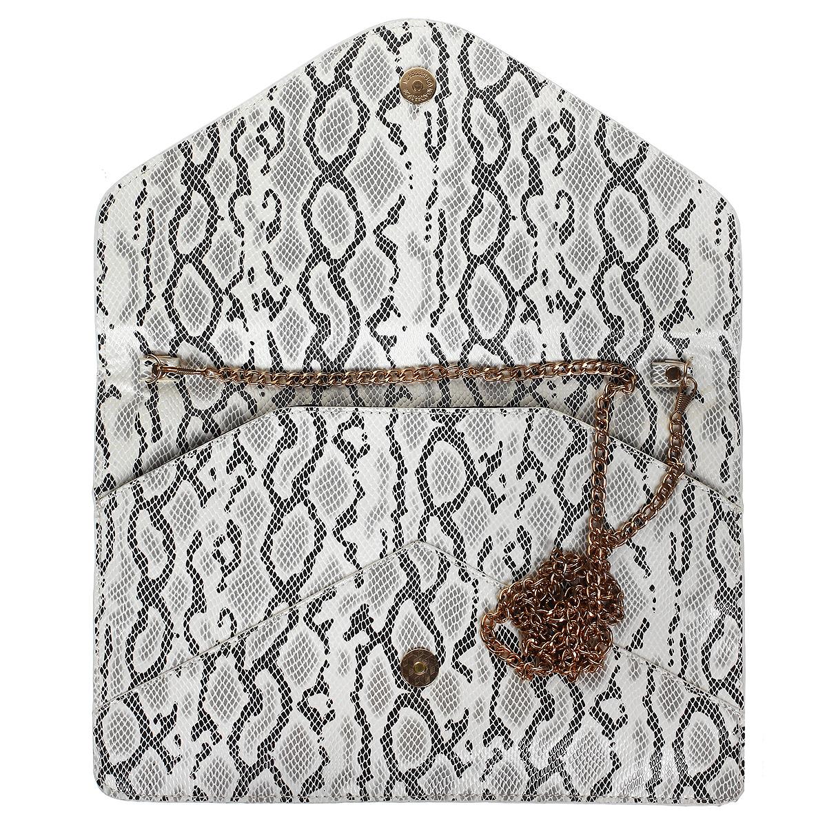 """Клатч """"Fancy\'s Bag"""", цвет: белый, черный. C057-76 ( C057-76 слон кость )"""