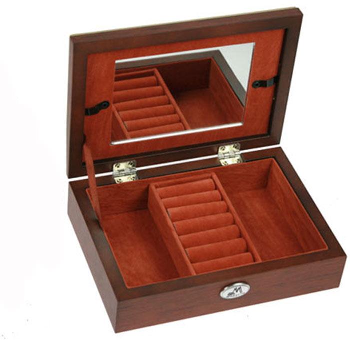 """Шкатулка ювелирная """"Moretto"""", цвет: коричневый, 18 см х 13 см х 5 см. 39799"""