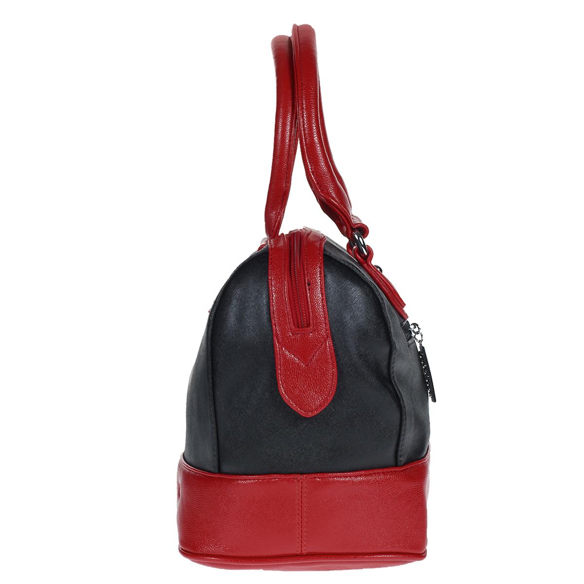 Сумка женская Leighton, цвет: черный, красный. 61044-3769/1 ( 61044-3769/1/339 )