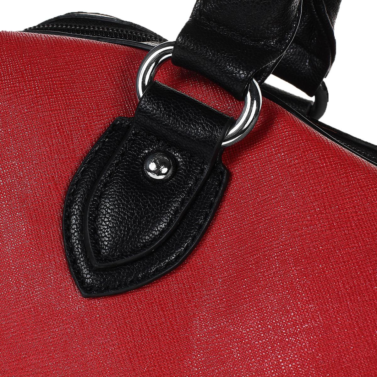 Сумка женская Leighton, цвет: красный, черный. 61044-3769/16/339/1 ( 61044-3769/16/339/1 )