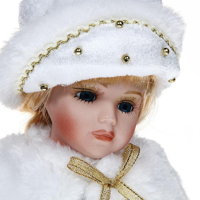 Декоративная керамическая кукла, на подставке, 30 см. 31098