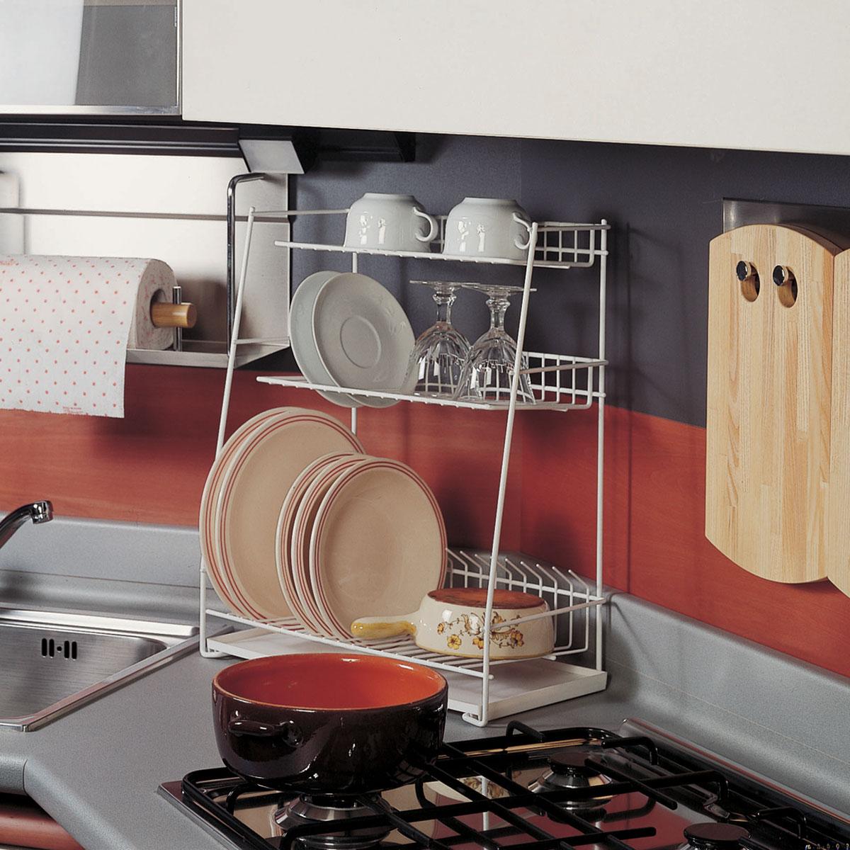 """Сушилка для посуды """"Metaltex"""" с поддоном, настольная, 3 уровня"""