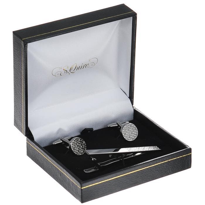 """Заколка для галстука """"S.Quire"""", цвет: серебристый. 10-7685 ( 10-7685 )"""