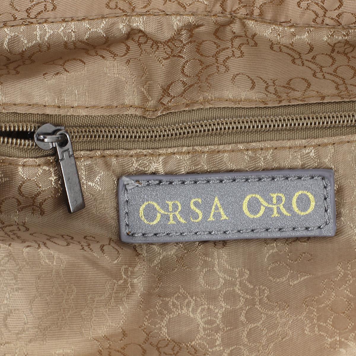 """Сумка женская """"Orsa Oro"""", цвет: серебристый графит. D-745 ( D-745 серебристый графит )"""
