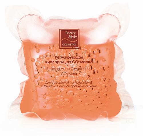 Beauty Style Регулирующая кислородная СО2 маска, для смешанной и жирной кожи, 10 х 30 мл