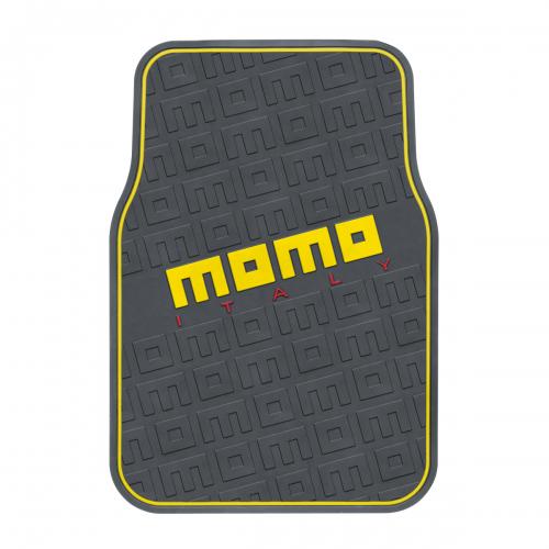 """Коврики автомобильные MOMO """"Commando"""", эластичный ПВХ, цвет: черный, желтый, 4 предмета"""