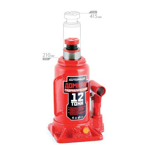 Домкрат бутылочный Автопрофи DG-12, 12 т