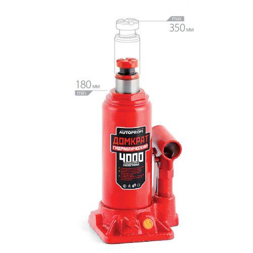 Домкрат бутылочный Автопрофи DG-04, 4 т