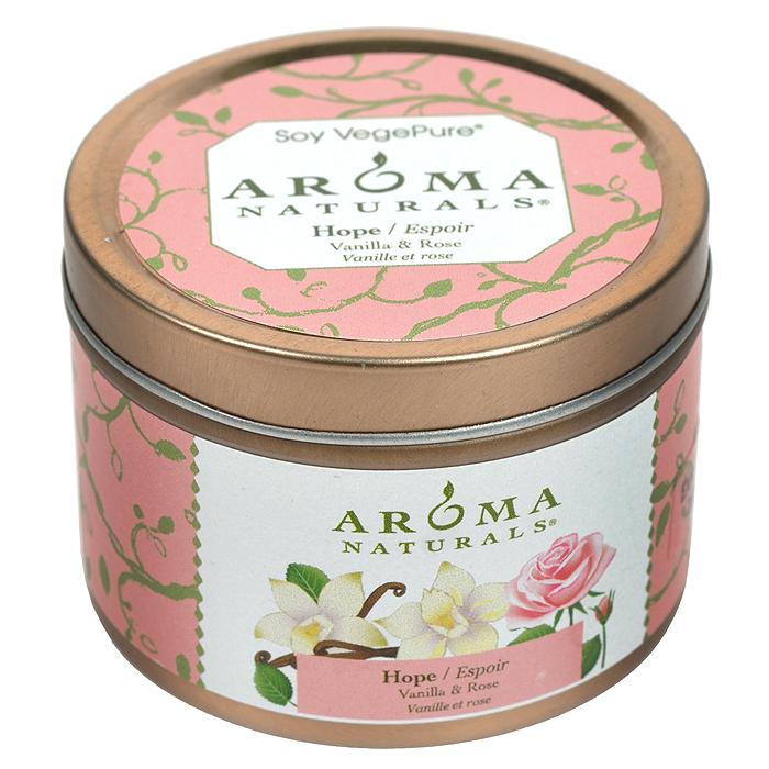 """Aroma Naturals Соевая свеча """"Надежда"""", с маслом розы и ванили, 80 г"""
