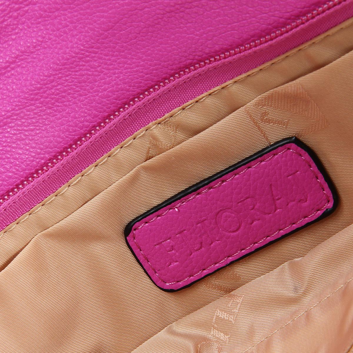 """Клатч """"Flioraj"""", цвет: синий, розовый. 10184-15/1070/615 ( 10184-15/1070/615 джинса )"""