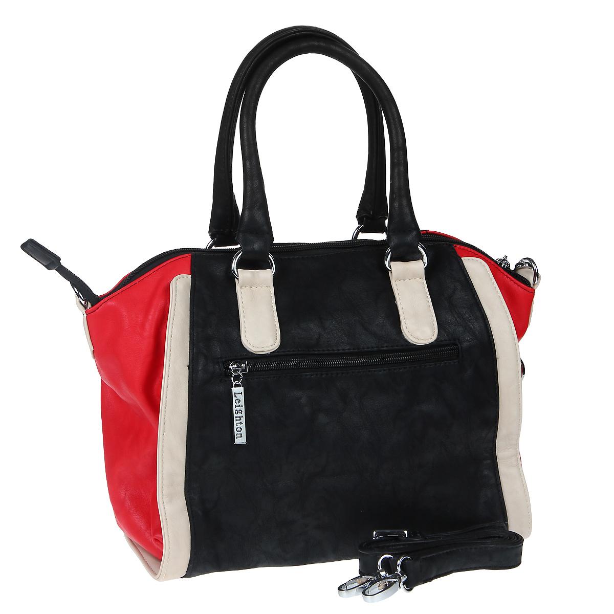 Сумка женская Leighton, цвет: черный, красный, белый. 570442-6090 ( 570442-6090/1112/601/6094 )