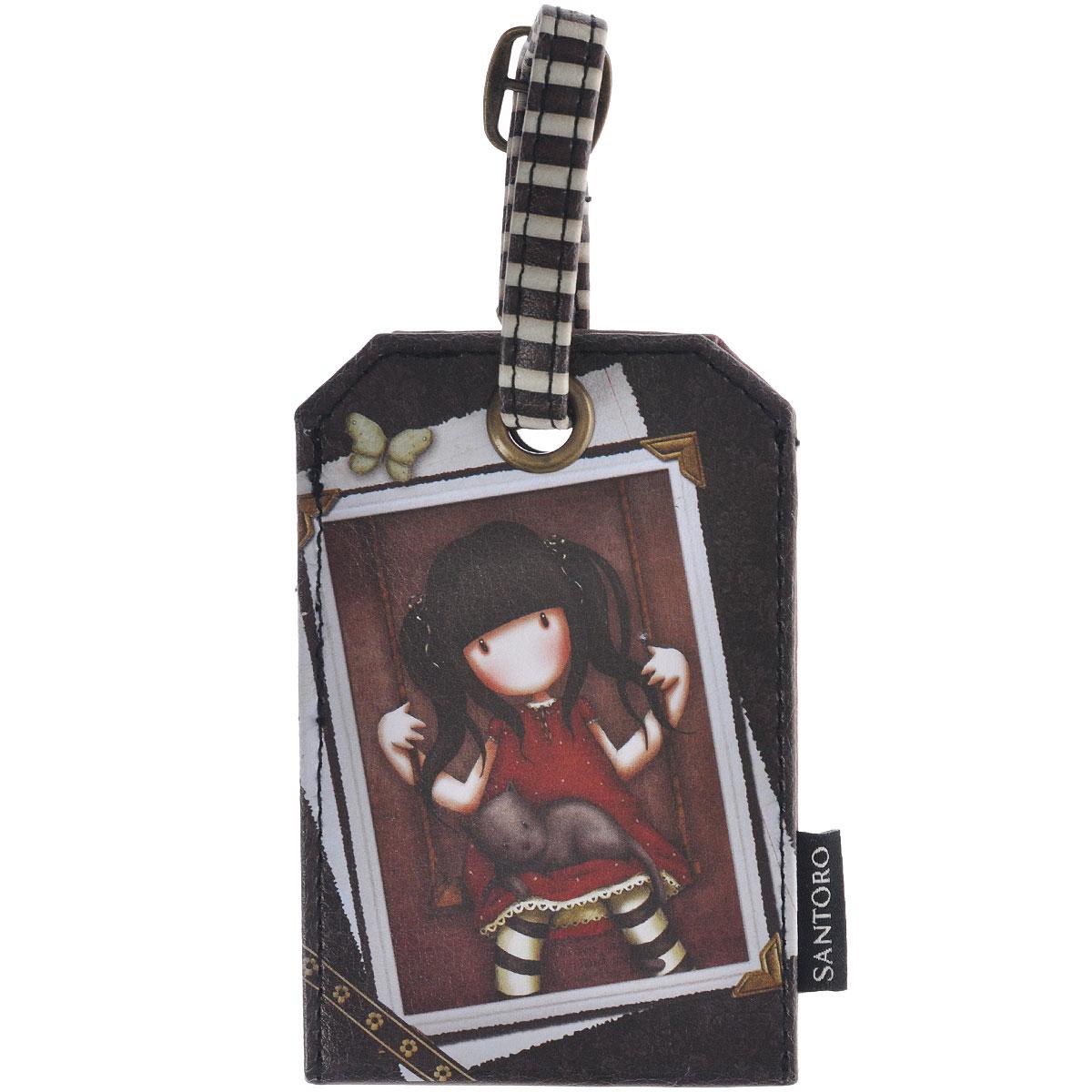 "Бирка на багаж ""Ruby"", цвет: коричневый. 0090702"
