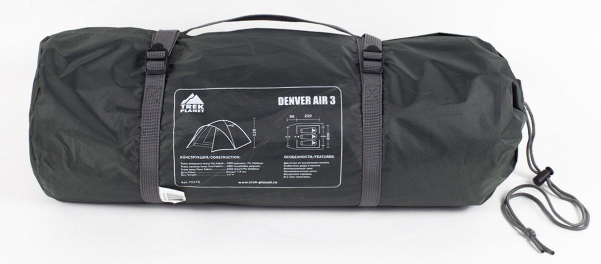 """Палатка Trek Planet """"Denver Air 3"""" трехместная ( 70176 )"""