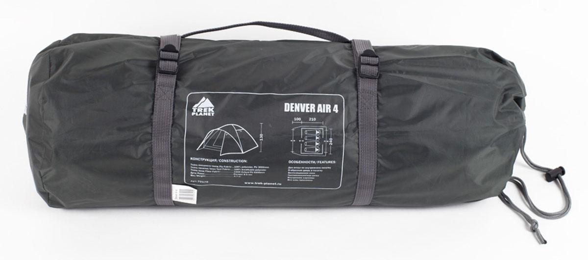 """Палатка Trek Planet """"Denver Air 4"""" четырехместная ( 70178 )"""