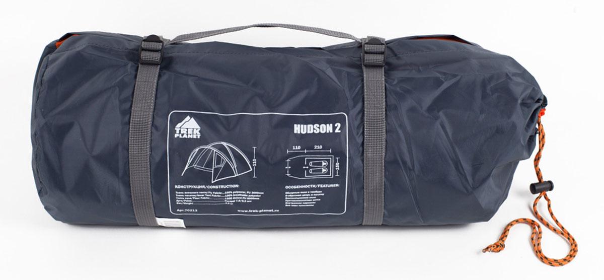 """Палатка Trek Planet """"Hudson 2"""", цвет: серый, оранжевый"""