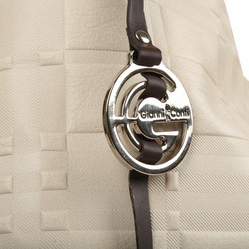 "Сумка женская ""Gianni Conti"", цвет: слоновая кость. 1634572E ( 1634572E ivory dark brown )"