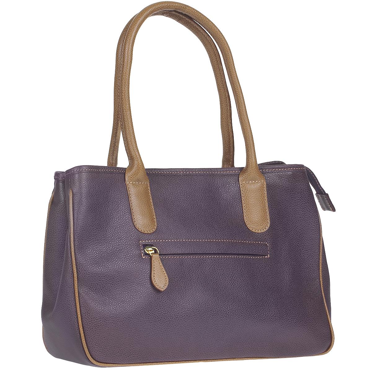"""Сумка женская Dimanche """"Кристи"""", цвет: фиолетовый, коричневый. 443/2К ( 443/2К )"""