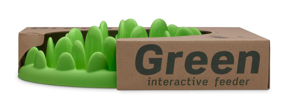 """Миска интерактивная для собак Northmate """"Green"""", цвет: зеленый"""