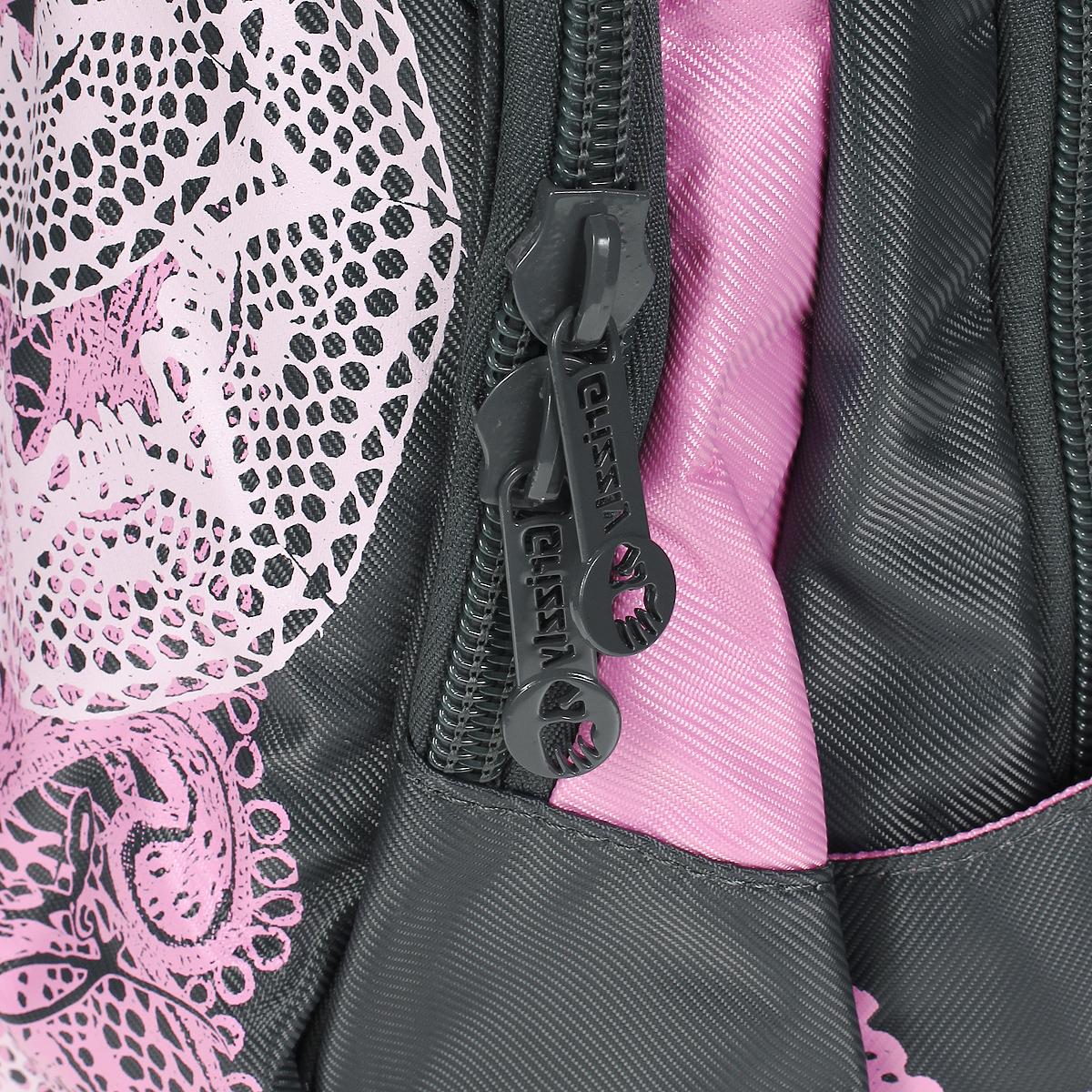 Рюкзак городской Grizzly, цвет: серый, розовый. RD-216-1 ( RD-216-1/2 311 серый )