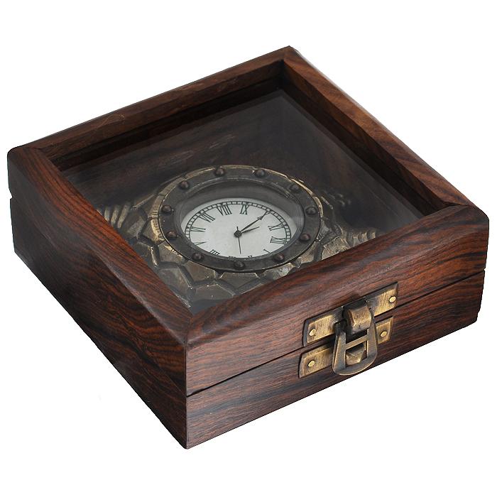 """Часы сувенирные """"Черепаха"""", цвет: бронзовый. 35825"""