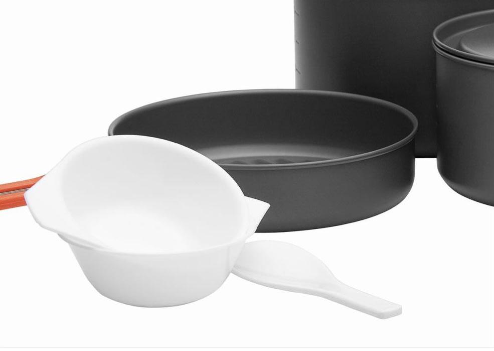 """Набор походной посуды Fire-Maple """"Feast 5"""", цвет: металлик, оранжевый, 8 предметов"""