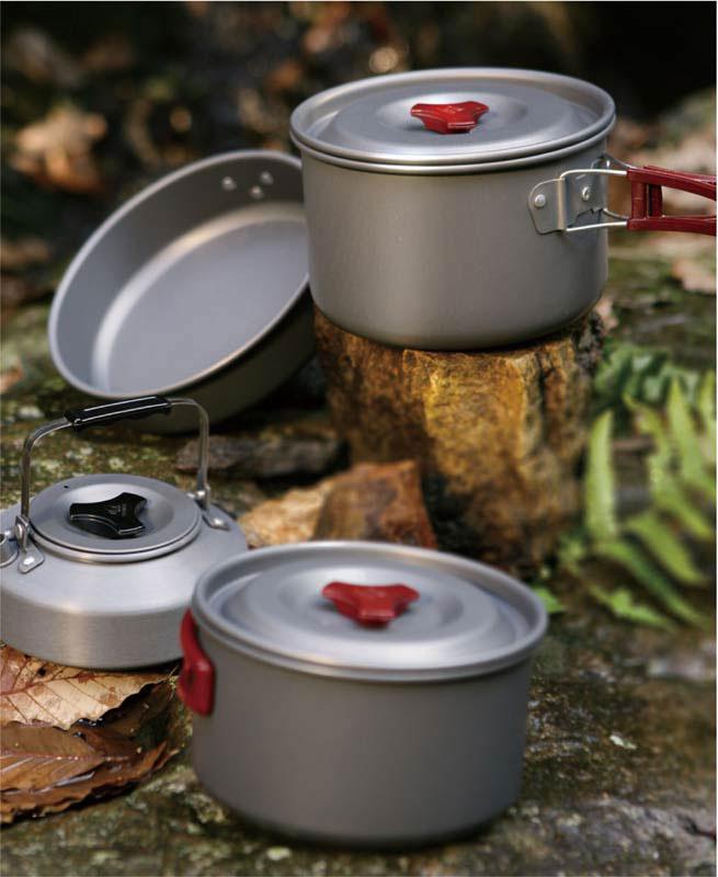 """Набор походной посуды """"Fire-Maple"""", цвет: металлик, белый, 13 предметов. FMC-209"""