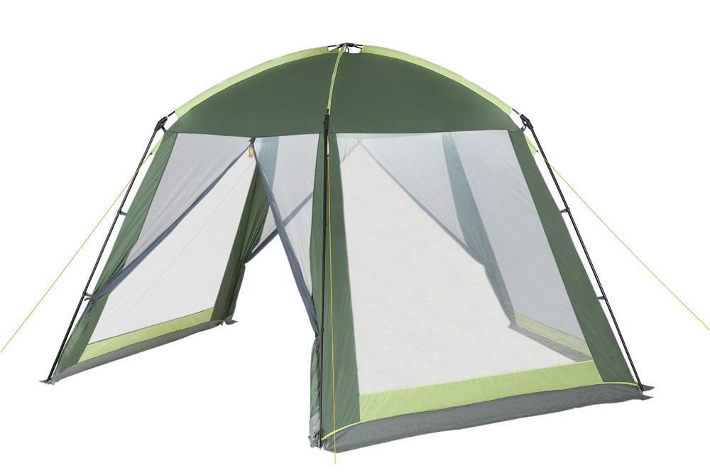 """Шатер-тент TREK PLANET """"PICNIC DOME"""", пятиугольной формы, 395 см х 410 см х 215 см, цвет: зеленый, светло-зеленый"""