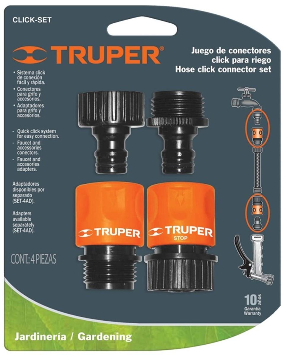 """Коннекторы для шланга Truper, быстрозащелкивающиеся, 3/4"""", 2 шт"""