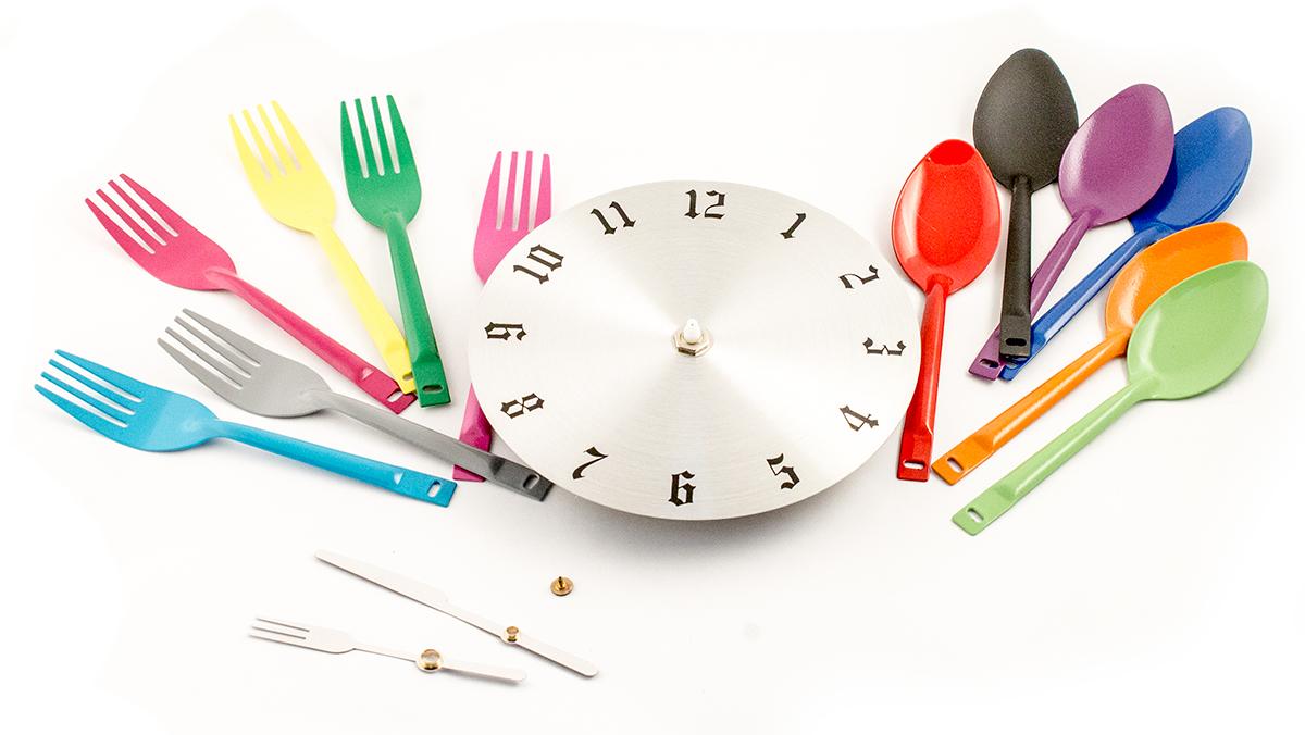 """Часы настенные """"Вилки-ложки"""", цвет: мульти. 95205"""