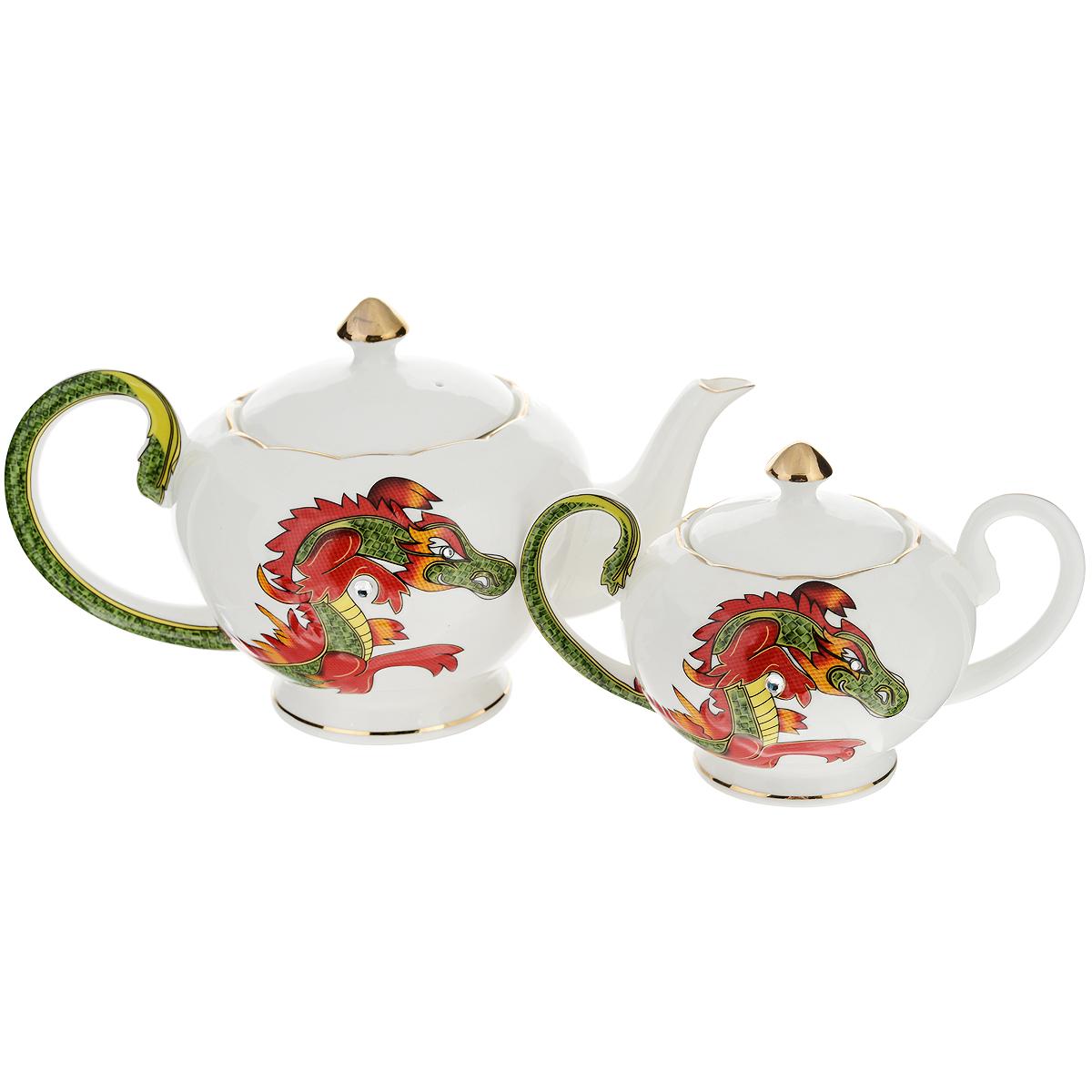 """Набор чайный Briswild """"Яркий дракон"""", 16 предметов"""