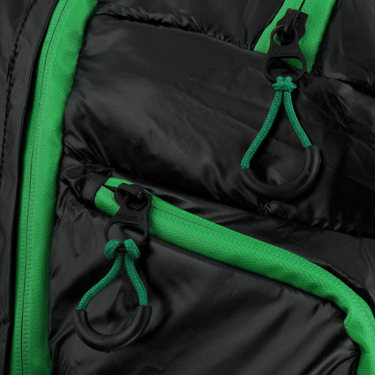Рюкзак молодежный Grizzly, цвет: черный, зеленый. RU-417-1 ( RU-417-1 Рюкзак /1 черный - зеленый )