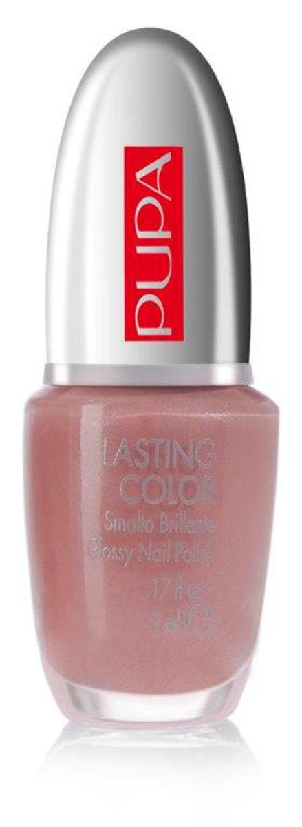 PUPA Лак для ногтей LASTING COLOR, тон 205 натуральный розовый , 5 мл. (Pupa)