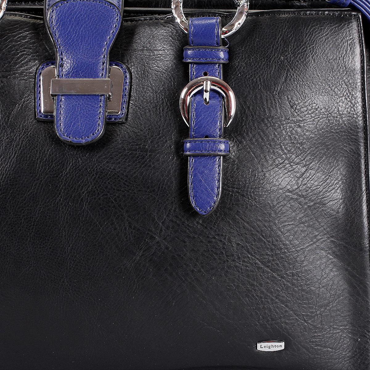 """Сумка женская """"Leighton"""", цвет: черный, синий. 510250-5590/292/45 ( 510250-5590/292/45 черн/с )"""