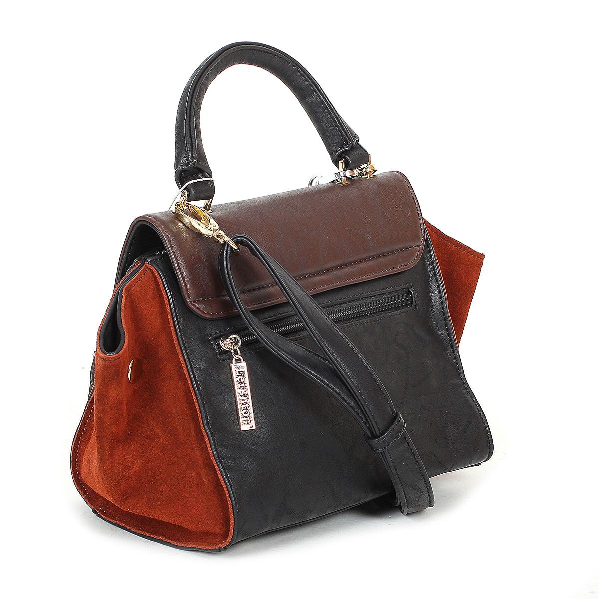 Сумка женская Leighton, цвет: черный, коричневый. 510327-6090/6093/4 ( 510327-6090/6093/4 )