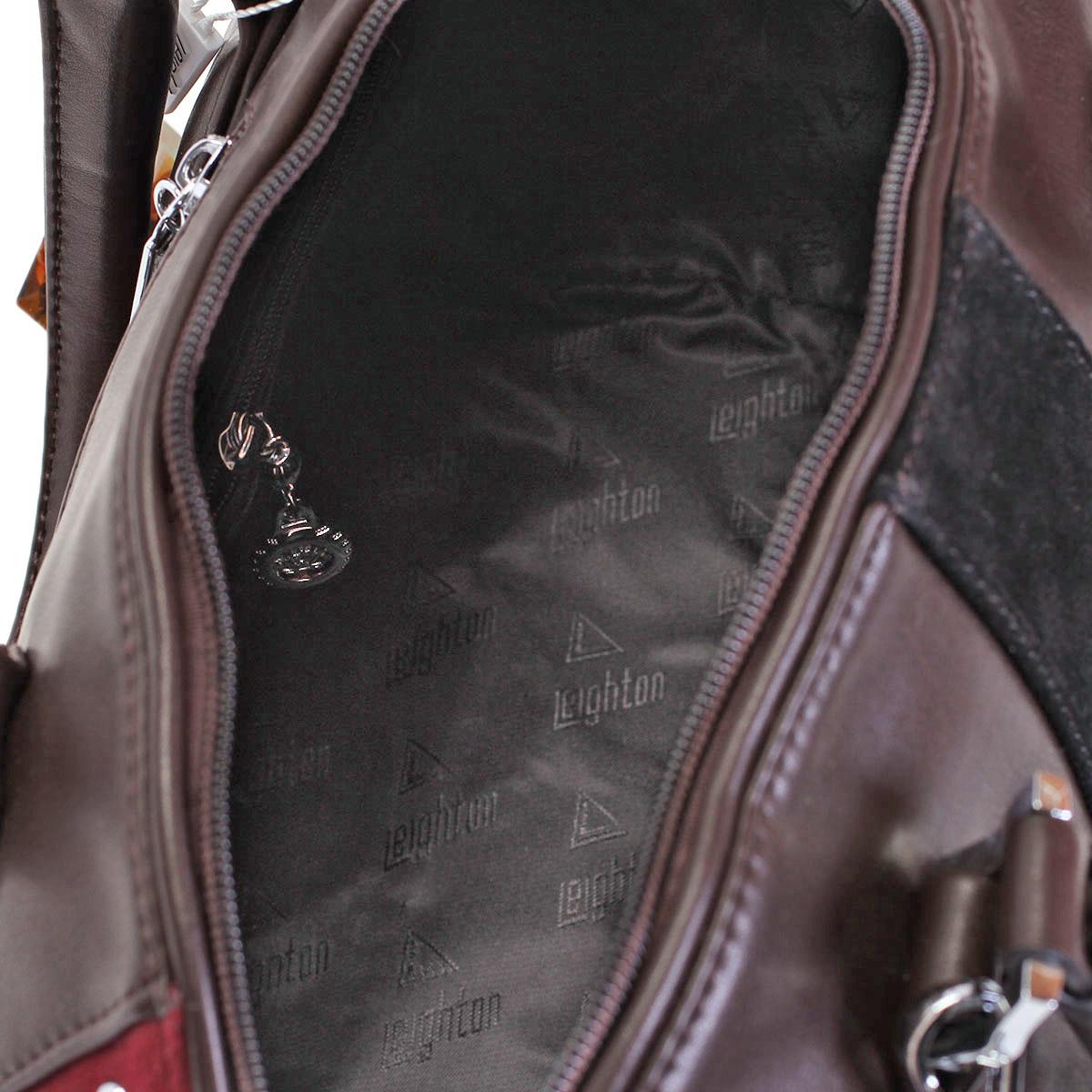 Сумка женская Leighton, цвет: коричневый, бордовый. 520306-1166/201/503/80 ( 520306-1166/201/503/80 )