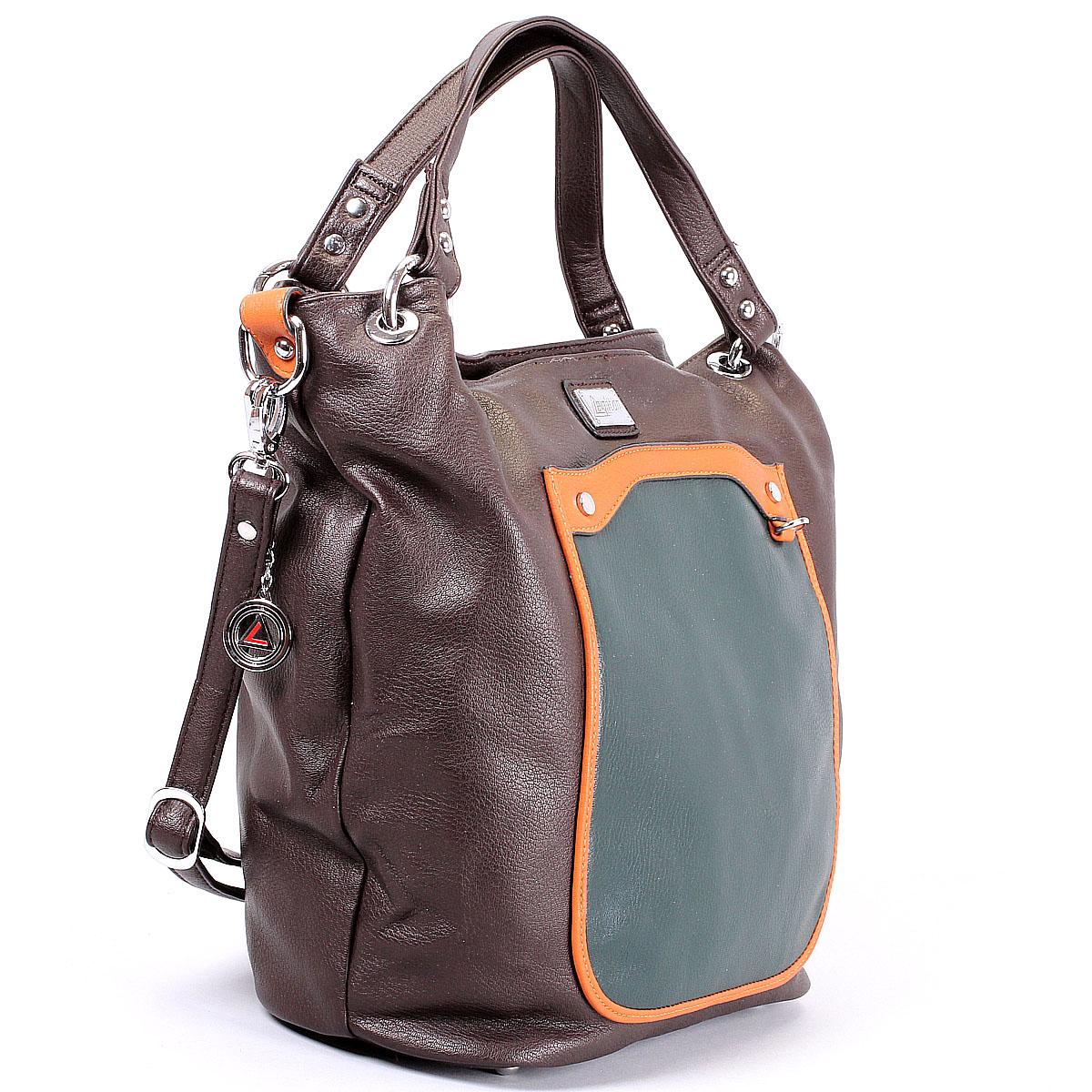 Сумка женская Leighton, цвет: коричневый, зеленый, оранжевый. 550302-149 ( 550302-149/2/149/5/149/19 )