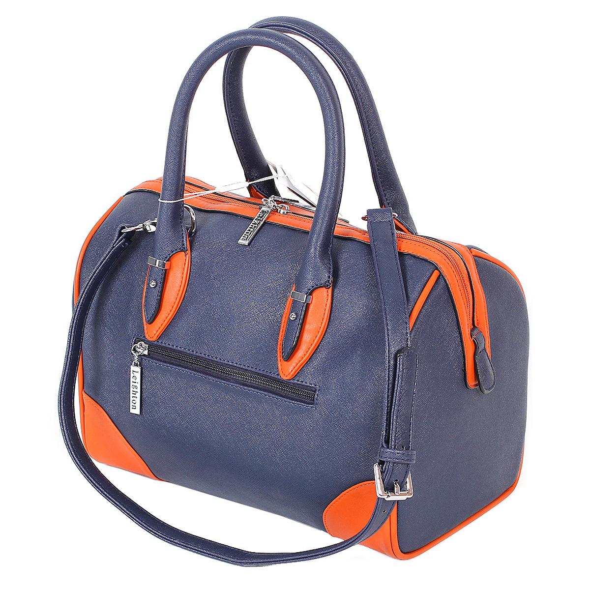 Сумка женская Leighton, цвет: синий, оранжевый. 9435-3769 ( 9435-3769/4/1166/813 )