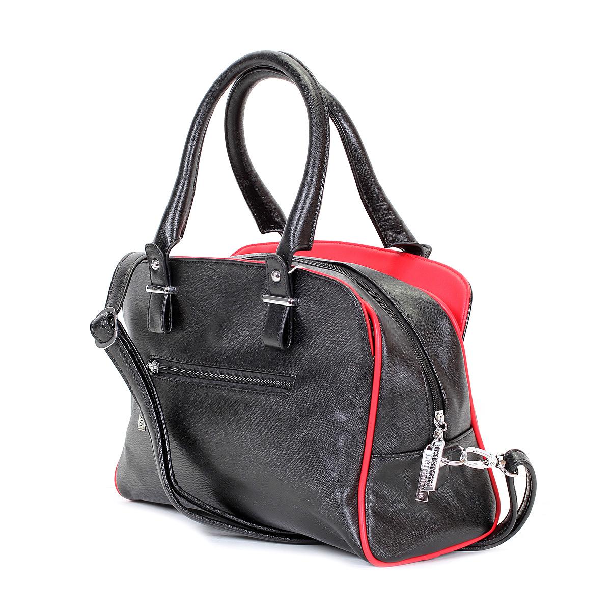 """Сумка женская """"Leighton"""", цвет: черный, красный. 570353-3769/1/1166/601 ( 570353-3769/1/1166/601 )"""