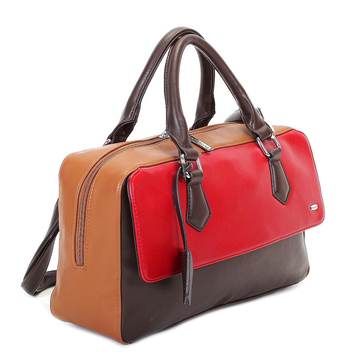 Сумка женская Leighton, цвет: коричневый, рыжий, темно-красный. 570425-1166/201/1166/619/1166/206 ( 570425-1166/201/1166/619/ )