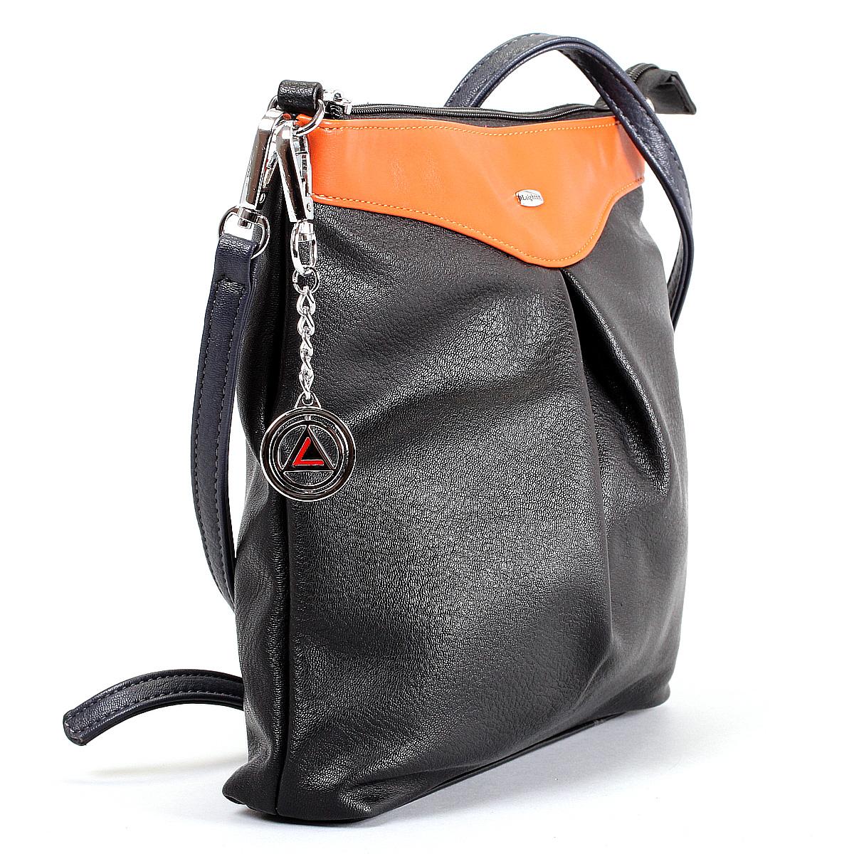 Сумка женская Leighton, цвет: черный, оранжевый, синий. 570428-3822/1/3822/2/1166/813 ( 570428-3822/1/3822/2/1166 )