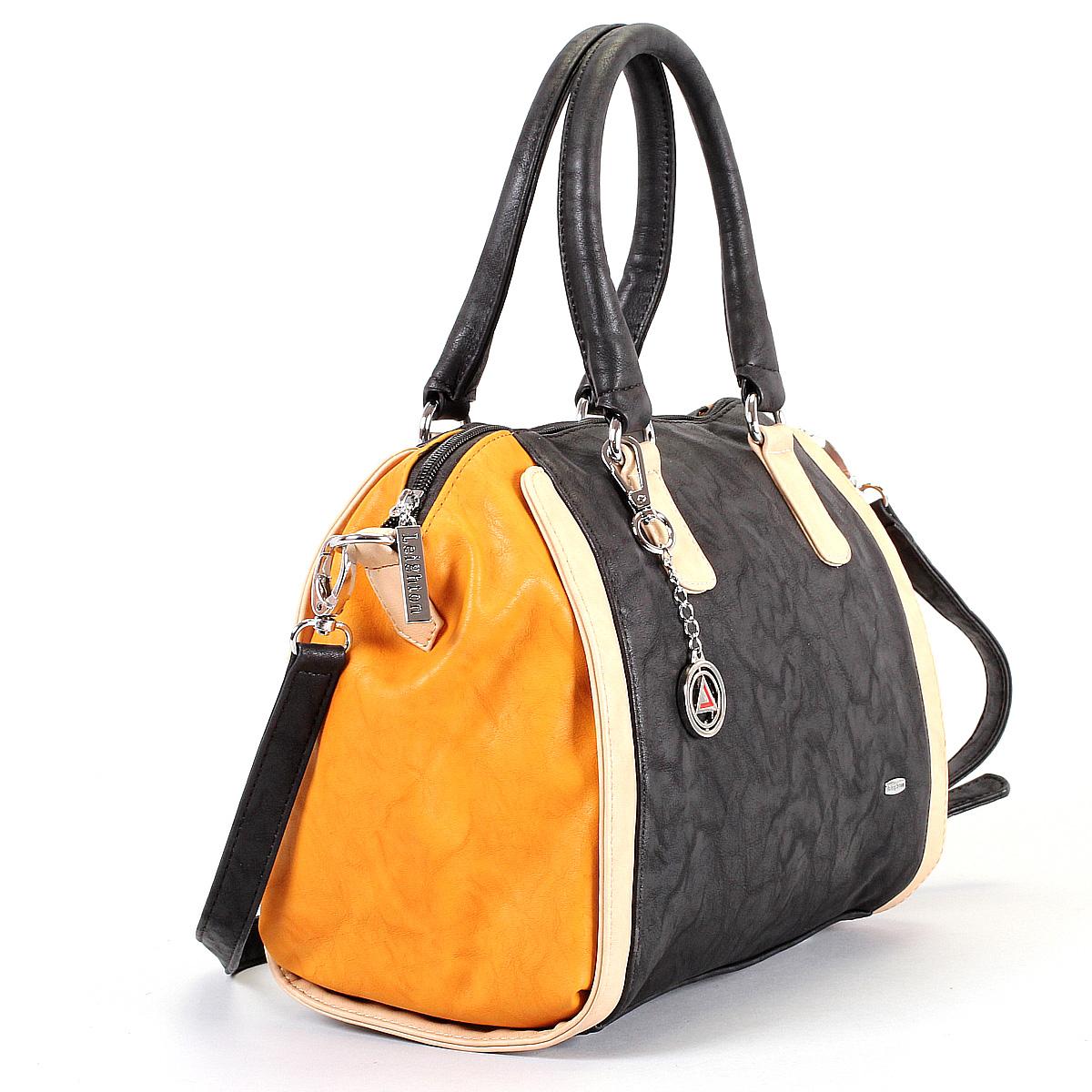 Сумка женская Leighton, цвет: черный, бежевый, горчичный. 570442-6090/1112/811/1112/911 ( 570442-6090/1112/811/1112 )