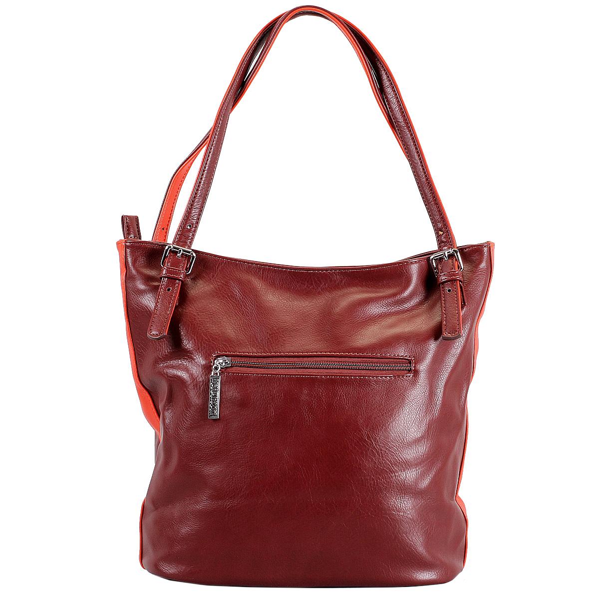 Сумка женская Leighton, цвет: бордовый, оранжевый. 76618-292/42/292/52 ( 76618-292/42/292/52 бордо )