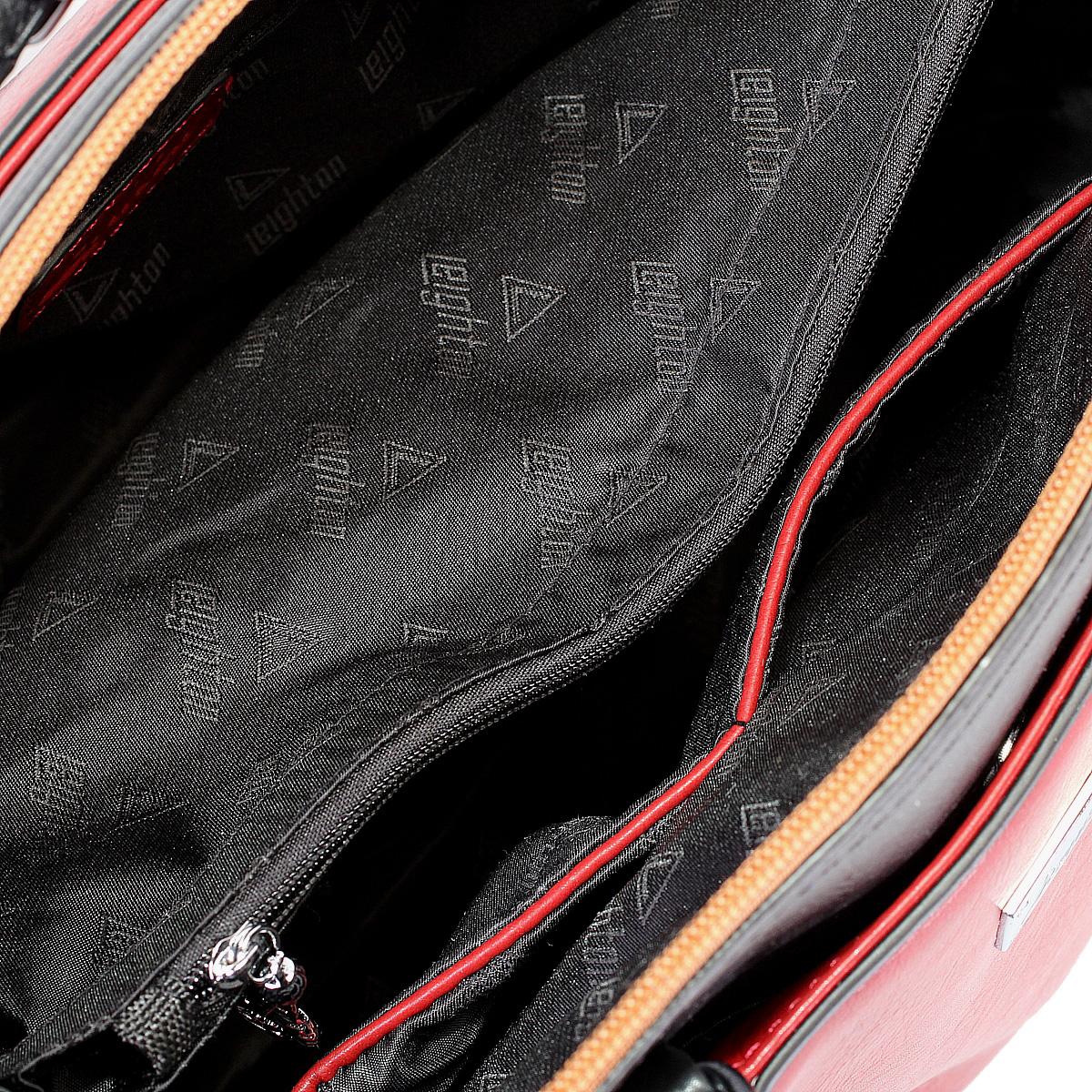 Сумка женская Leighton, цвет: черный, красный. 62050-292/10/292/1/292/28 ( 62050-292/10/292/1/292/28 )